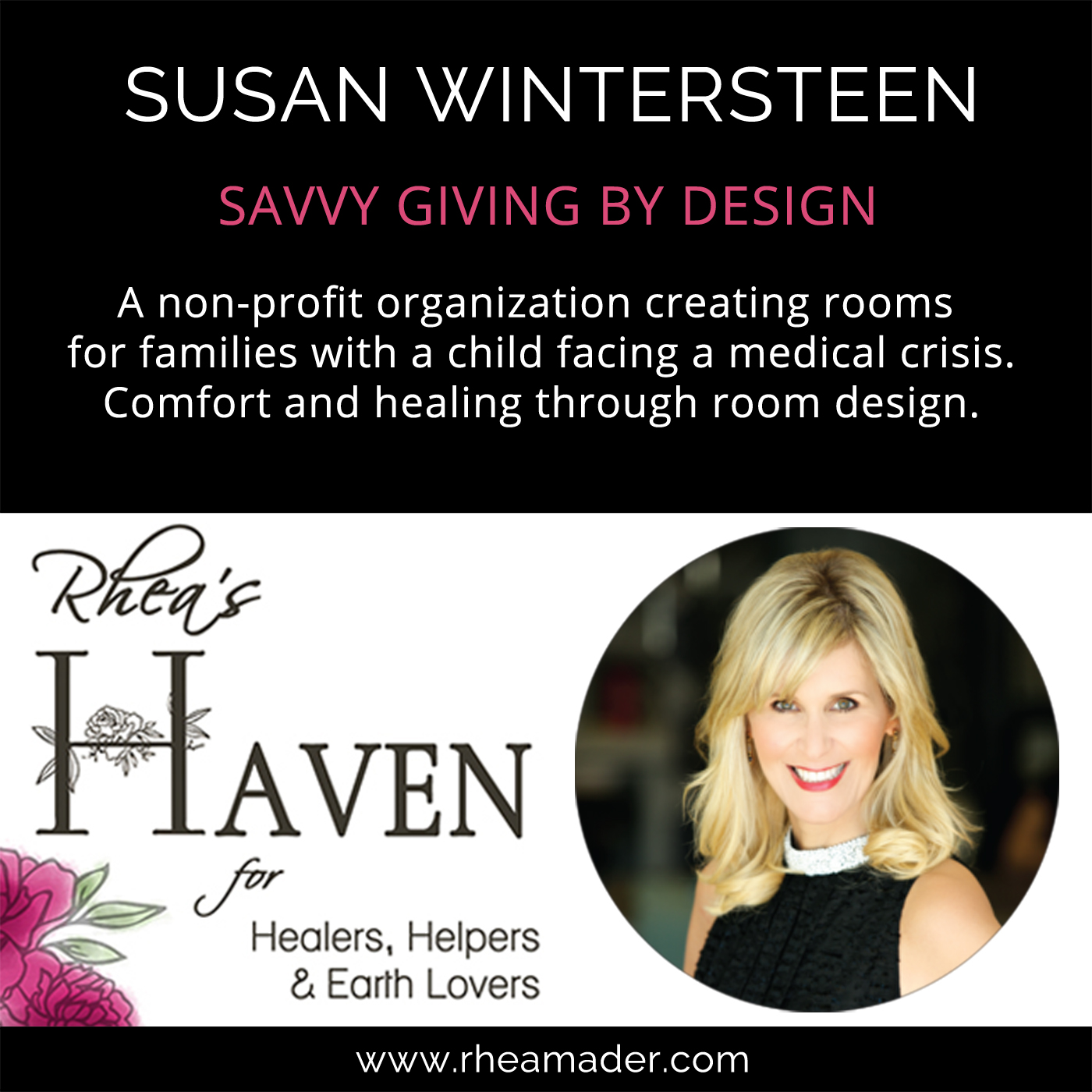 SUSAN WINTERSTEEN:  Savvy Giving By Design
